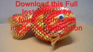 3d origami how to koi fish