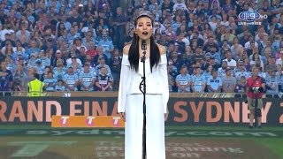 Dami Im singing the National Anthem (AUS) - NRL Grand Final