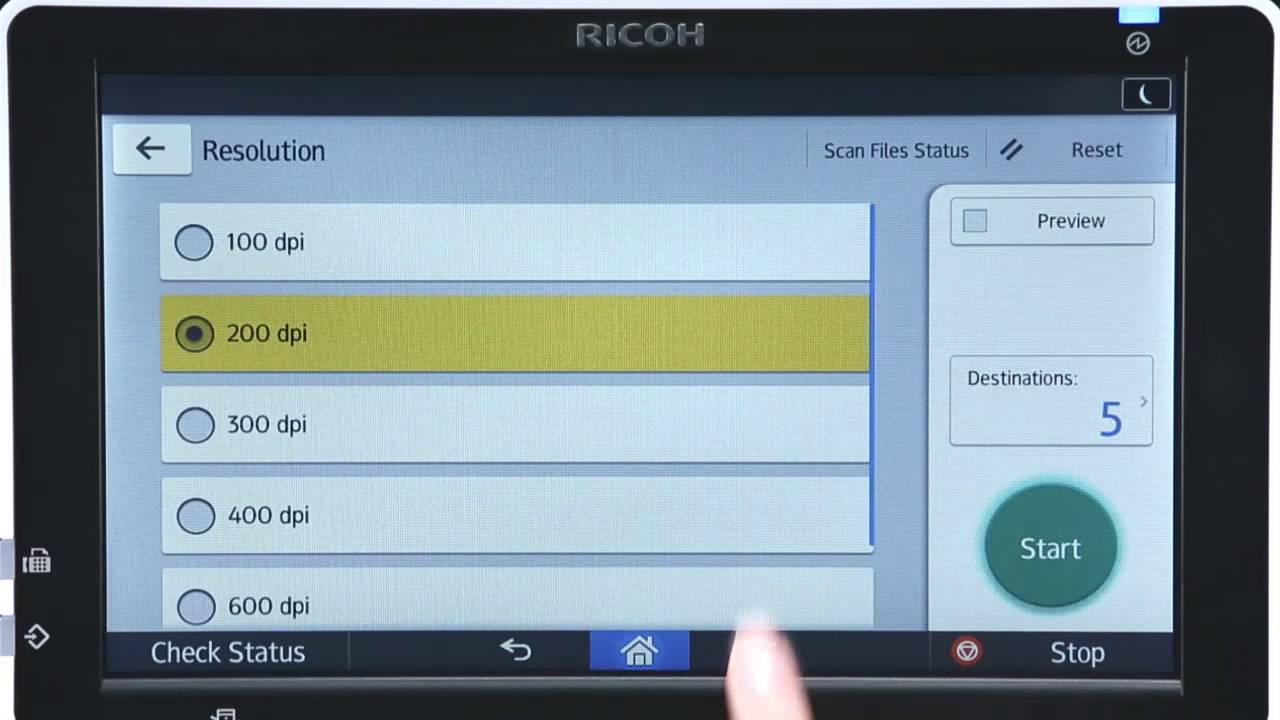 Ricoh Smart Operation Panel Smart Interface Scanning (long version)