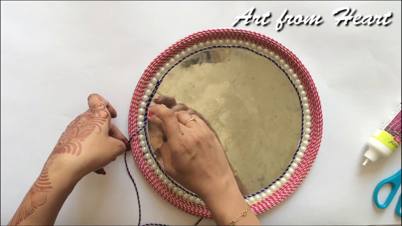 DIY - decorative wedding tray/plate || Diwali/Laxmi pooja/Aarati ...