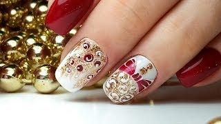 Самый Популярный Новогодний Дизай Ногтей ТОП удивителные дизайны ногтей