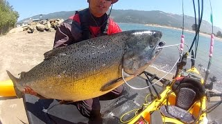 California Coast Monster Kayak King Salmon fishing