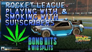 🔥 Rocket League 420 LIVE 🔫 PLAYING WITH SUBS 🎮 PC no PS4 XBOX MOBILE 👑 KingBong 420 💚 #KingBong