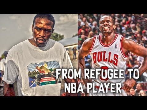 From REFUGEE to NBA PLAYER! The Amazing Story of Luol Deng