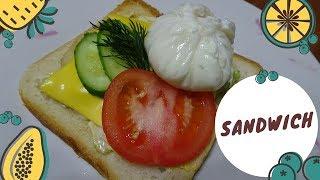 Идеальный завтрак / Сэндвич с курицей и яйцом пашот