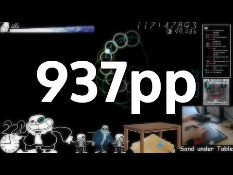 idke gets the second highest pp play of all time on Uta! (937pp)