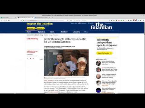Your Daily Environment 007: Greta Thunberg to sail the Atlantic, July 31, 2019