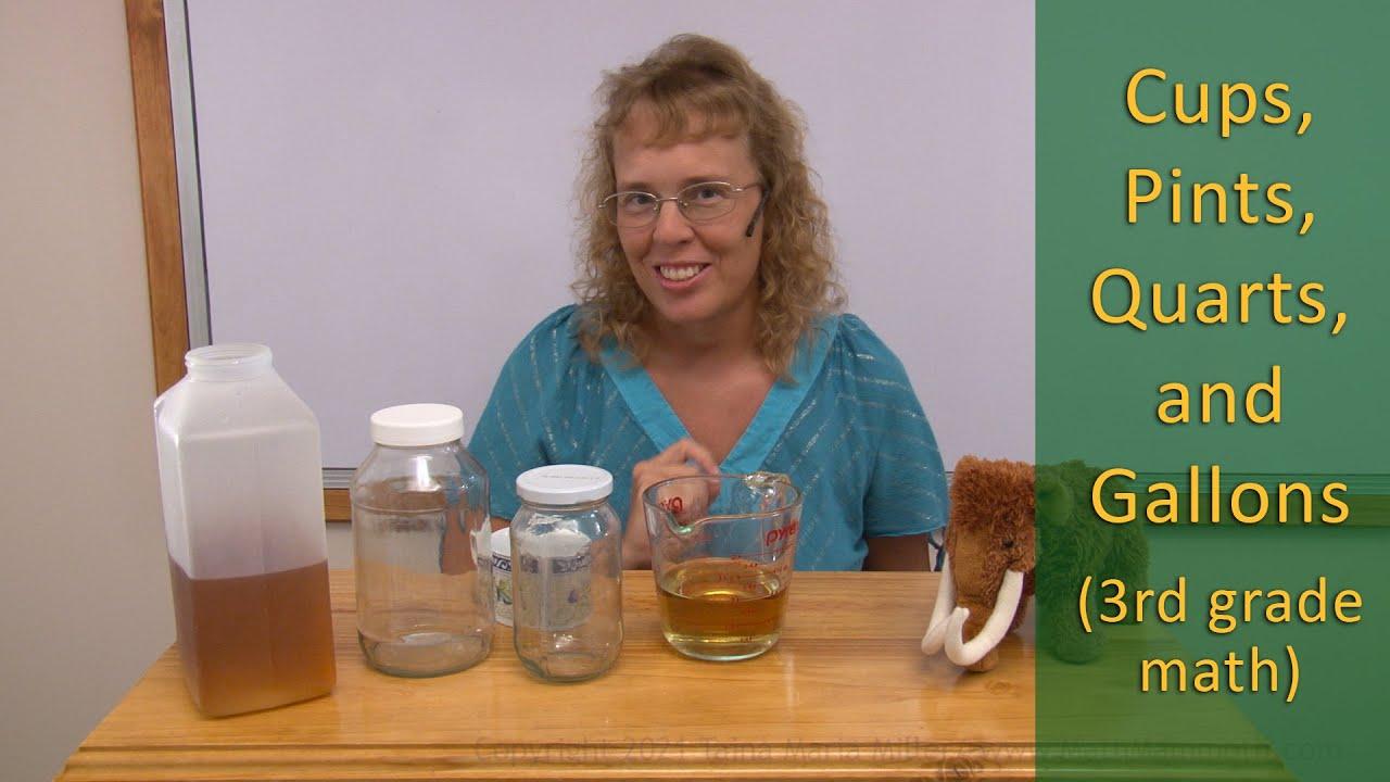 Download Cups, pints, quarts, and gallons (third grade math)