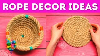 Home Decor Ideas With A Rope! DIY Rope Crafts That Make Your Home Cozy! | A+ hacks