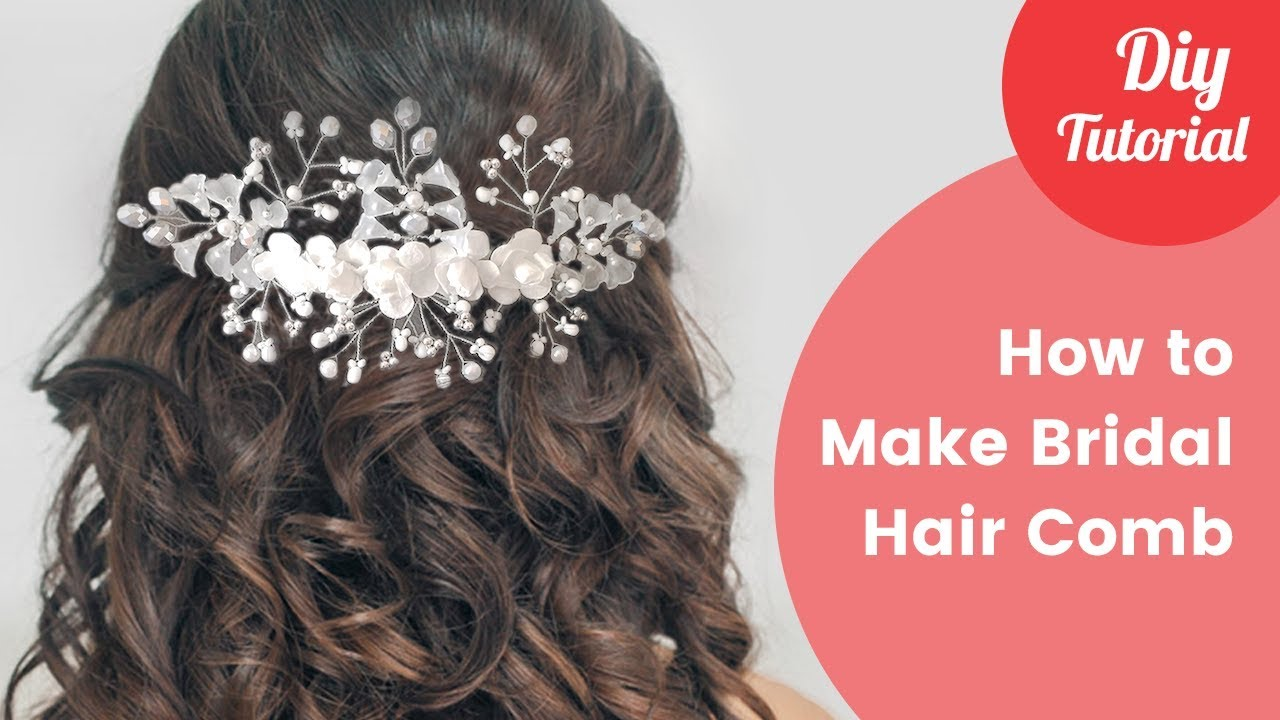 How to make bridal hair comb diy tutorial youtube gilda jewelry handmade solutioingenieria Image collections
