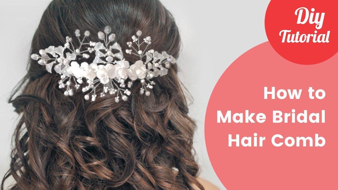 how to make bridal hair comb diy tutorial