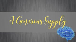 Kingdom House   A Generous Supply   Pastor Rob Meikle   January 17, 2021