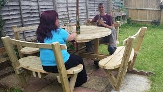 How To Make A Round 8 Seater Garden Bench