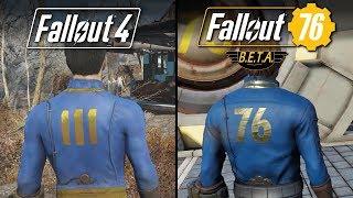 Fallout 76 (BETA) vs Fallout 4 | Direct Comparison