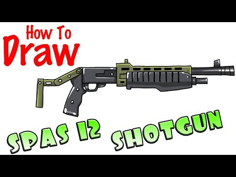 How To Draw SPAS 12 Shotgun   Fortnite