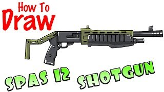 How to Draw SPAS 12 Shotgun | Fortnite