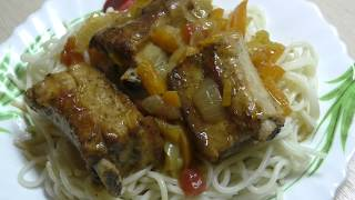 Рёбрышки с овощами тушеные в мультиварке/Мясо тает во рту/Как вкусно приготовить свиные ребра