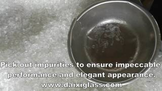 Crystal Glass Chips Pick Out Impurities