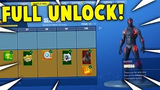 ACHETER TOUS LES 100 NIVEAUX! Saison 4 Battle Pass ALL ITEMS UNLOCKED! (Fortnite Battle Royale)
