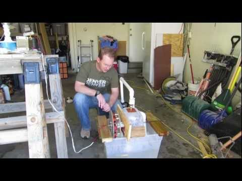 Hydroelectric generator science project
