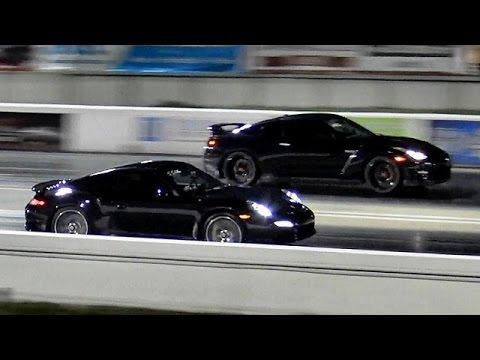 2015 porsche 991 turbo s vs tuned nissan gtr 1 4 mile drag race road test tvag race youtube. Black Bedroom Furniture Sets. Home Design Ideas