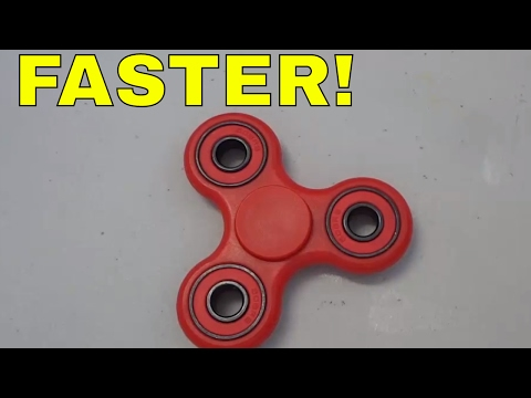 How To Make A Fidget Spinner FASTER-Easy Method