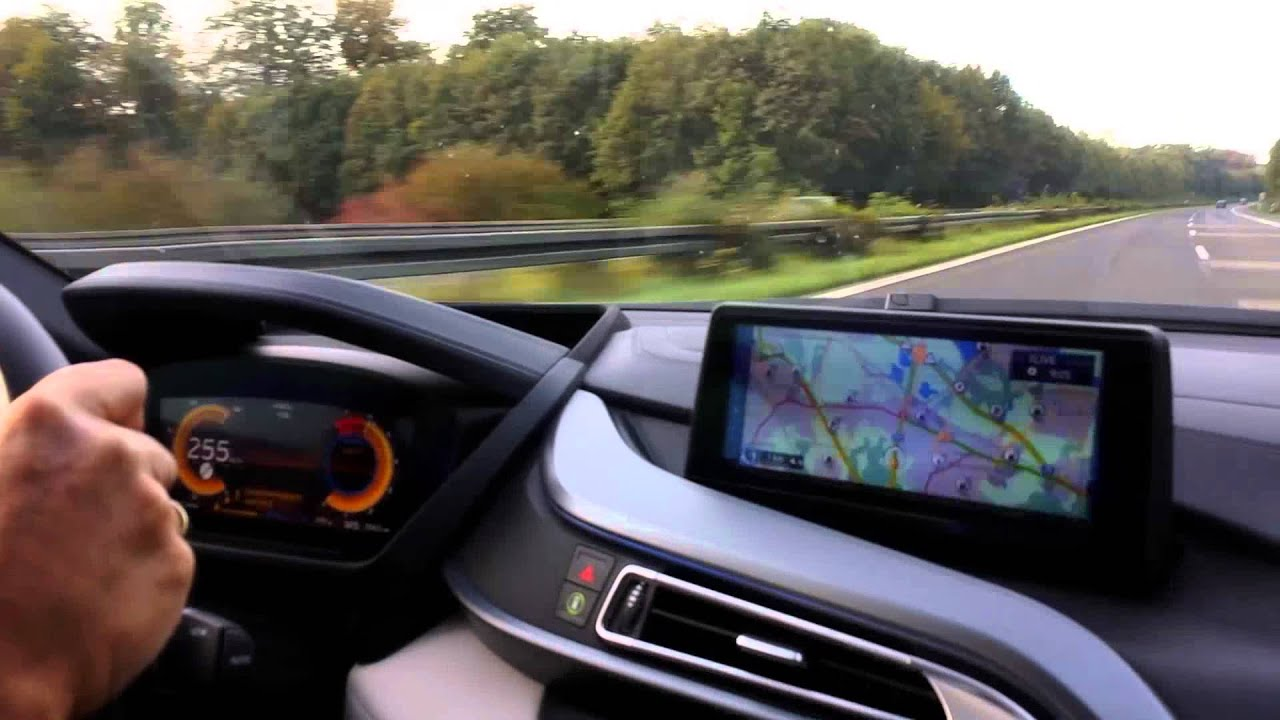BMW I8 On German Autobahn Top Speed   YouTube