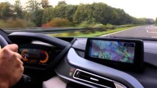 bmw i8 on german autobahn top speed