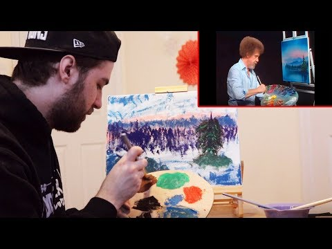 JEV PAINTS ALONG WITH BOB ROSS