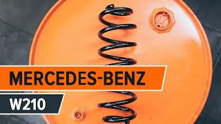 Hvordan bytte forhjulsopphengs spiralfjær på MERCEDES-BENZ E W210 [BRUKSANVISNING]
