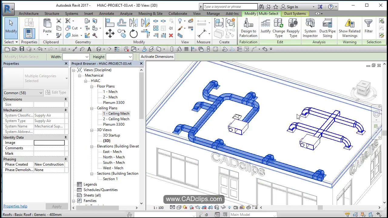 hight resolution of revit hvac project 04 add supply ducts