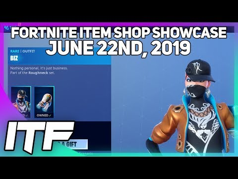 Fortnite Item Shop *NEW* BIZ SKIN SET! [June 22nd, 2019] (Fortnite Battle Royale)
