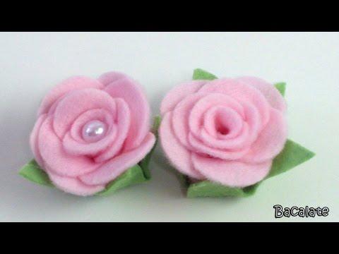 Artesanato Como fazer ROSA em FELTRO -...