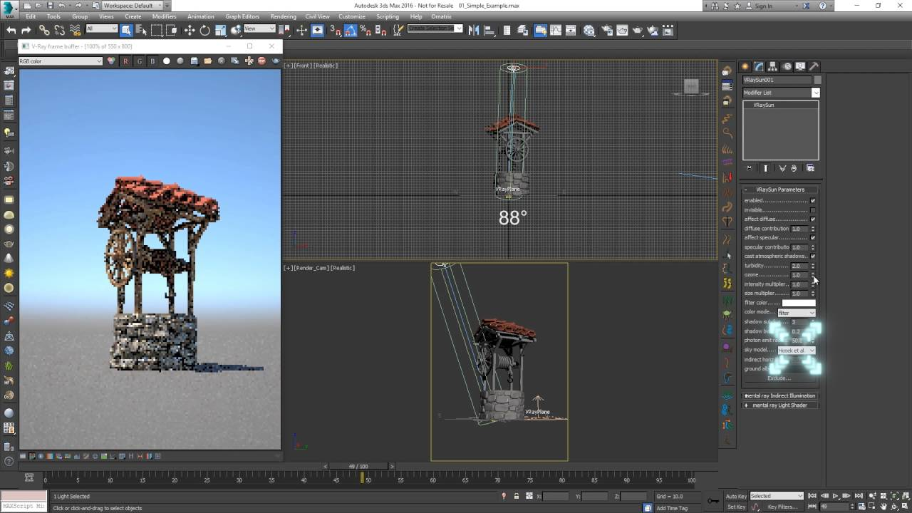 V-Ray for 3ds Max – Quick Tutorial: Sun and Sky