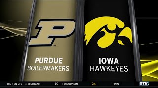 Purdue at Iowa - Football Highlights