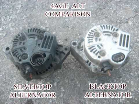 wiring diagram for an alternator 2000 honda accord radio how to convert 4age blacktop silvertop youtube