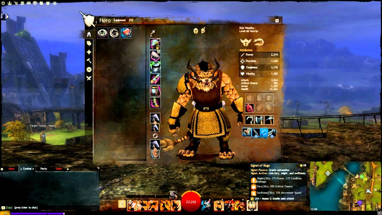 Guild Wars  Warrior Pvp Build