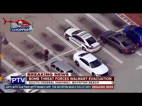 CHOPPER 5: Bomb threat at Boynton Beach Walmart