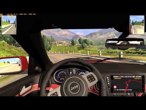 "ETS2 Gameplay by Jensen ""Спокойная и размеренная езда по Европе на Jeep_Grand_Cheeroke_SRT8 """