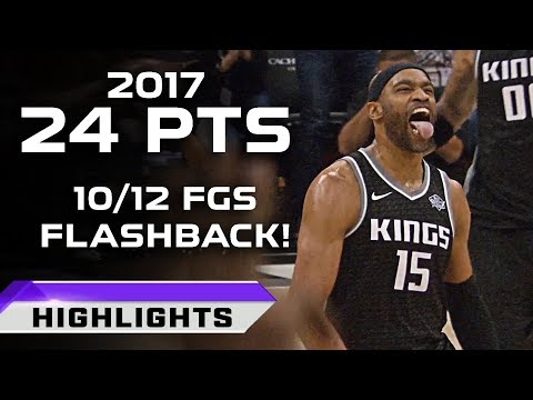 Vince Carter Flashback Highlights 24pts vs Cavaliers - 40 YEARS OLD! (12.27.2017)