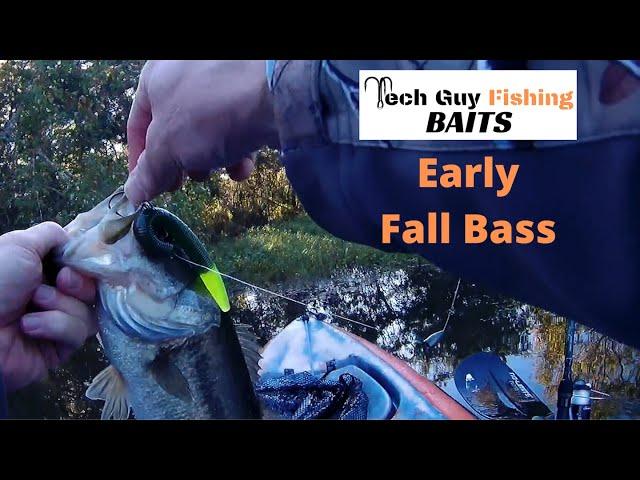 Catching Early Fall Bass with Tech Guy Fishing Baits