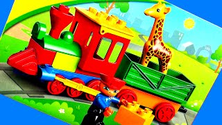 LEGO Duplo Zoo Train Shapes & Colors Playset Duplo Choo-Choo Train Toy Review Play Animal FluffyJet