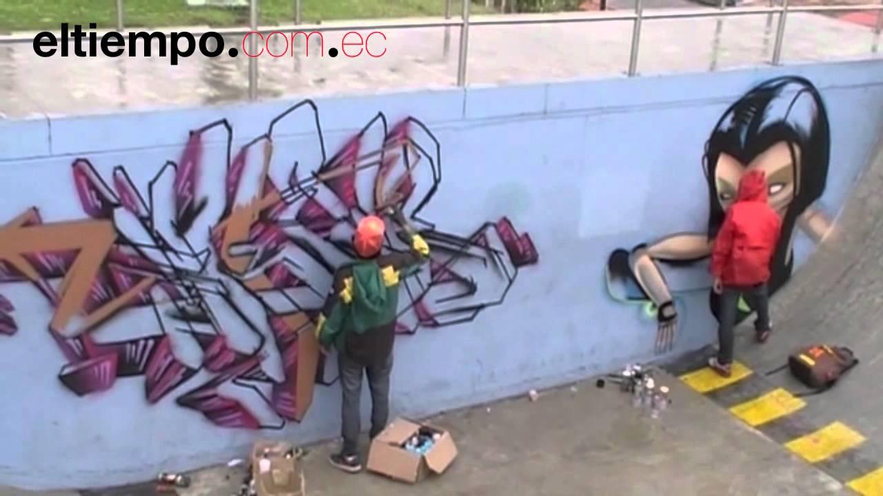 graffitis arte urbano en cemento cuenca ecuador youtube