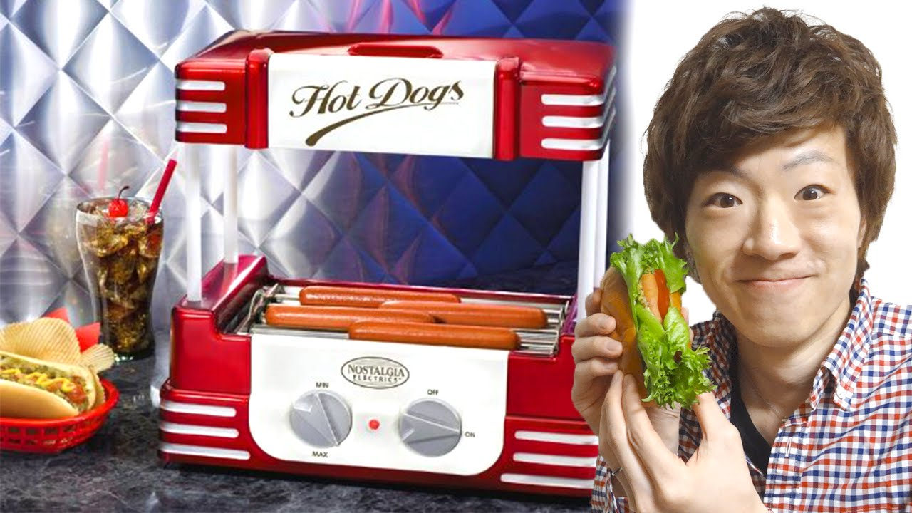 hot dog roller machine youtube. Black Bedroom Furniture Sets. Home Design Ideas