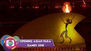 TAKJUB! Penyalaan Obor Asian Para Games 2018 oleh Wayang Raksasa