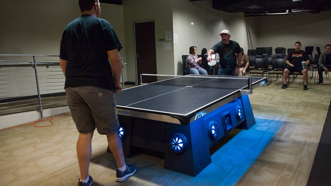 The Coolest Ping Pong Table EVER At KICKER HQ