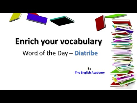 Diatribe | Enrich your English Vocabulary | Word of the Day