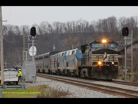 Thumbnail: Amtrak's late P030, with Norfolk Southern leader after collision with vehicle