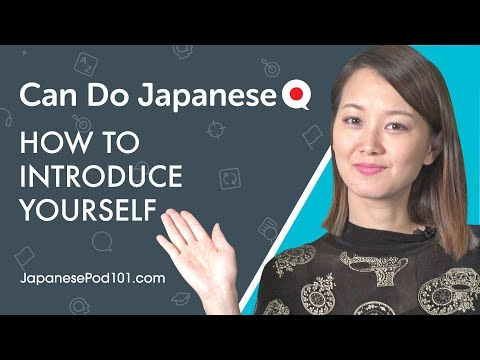How To Introduce Yourself In Japanese - Can Do #1