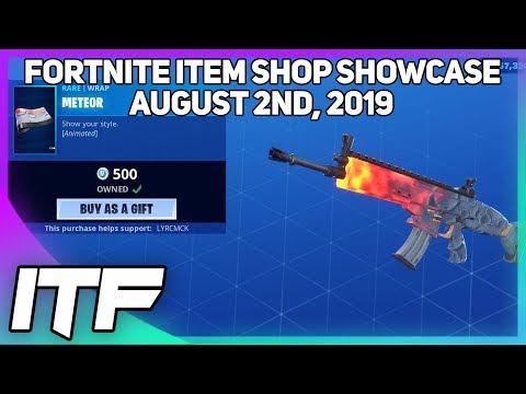 Fortnite Item Shop *NEW* ANIMATED RIFT METEOR WRAP! [August 2nd, 2019] (Fortnite Battle Royale)